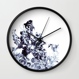 floating roots blue Wall Clock