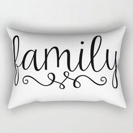 Family Script Rectangular Pillow