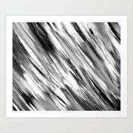 Black and White Painted Tie Dye Multi Media Cool Texture Trending Popular Modern Art Print