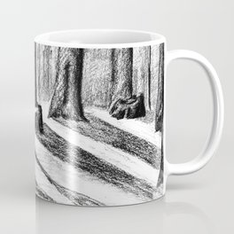 Trees Casting Shadows in the Woods Coffee Mug