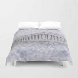 Illustartion of the Parthenon Duvet Cover