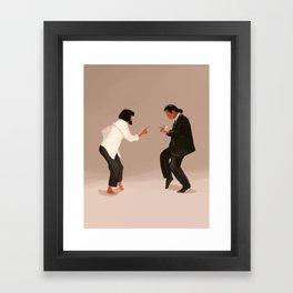Pulp Fiction Twist Framed Art Print