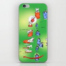 Pillow Sack Race between French Bulldog and Penguin iPhone & iPod Skin