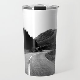 Road through the Glen - B/W Travel Mug