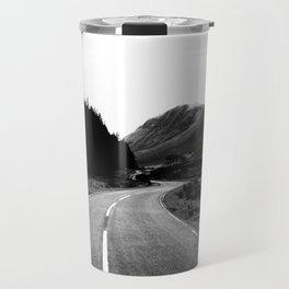 Road through the Glen - B/W Travel Mug