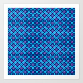 Totally Math in Blue Art Print