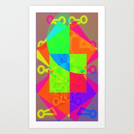 Abstract divisionism Art Print