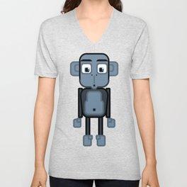 Super cute animals - Cheeky Blue Monkey Unisex V-Neck