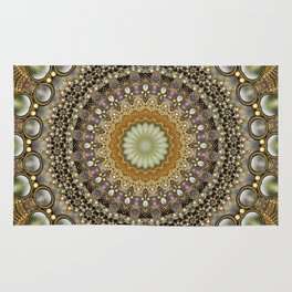 Antique Jeweled Mandala Rug