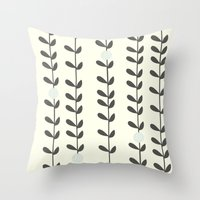 calendars Throw Pillows featuring Leaf by Shabby Studios Design & Illustrations ..