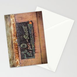 M & W Gear Company Super Snoot Rusted Name Plate Stationery Cards