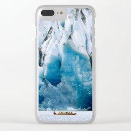 Ride to the Alaskan Glacier Clear iPhone Case