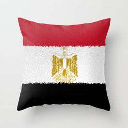 Flag of Egypt - Extruded Throw Pillow