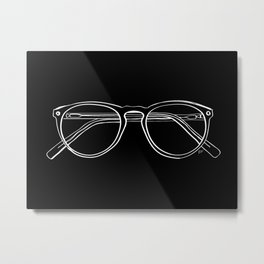 Spectacles (Inverse) Metal Print