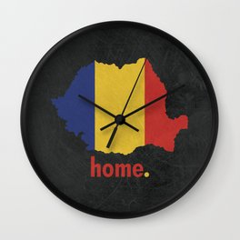 Romania Proud Wall Clock