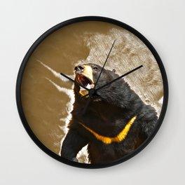 Roaring Sun Bear Wall Clock