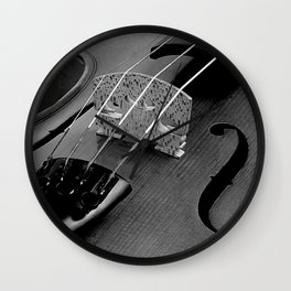 Strings - Black and White Violin A621 Wall Clock