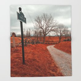 Bloody Red Lane Throw Blanket