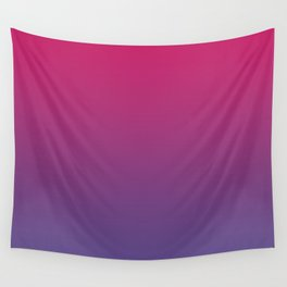Pink Peacock Ultra Violet Gradient Pattern Wall Tapestry