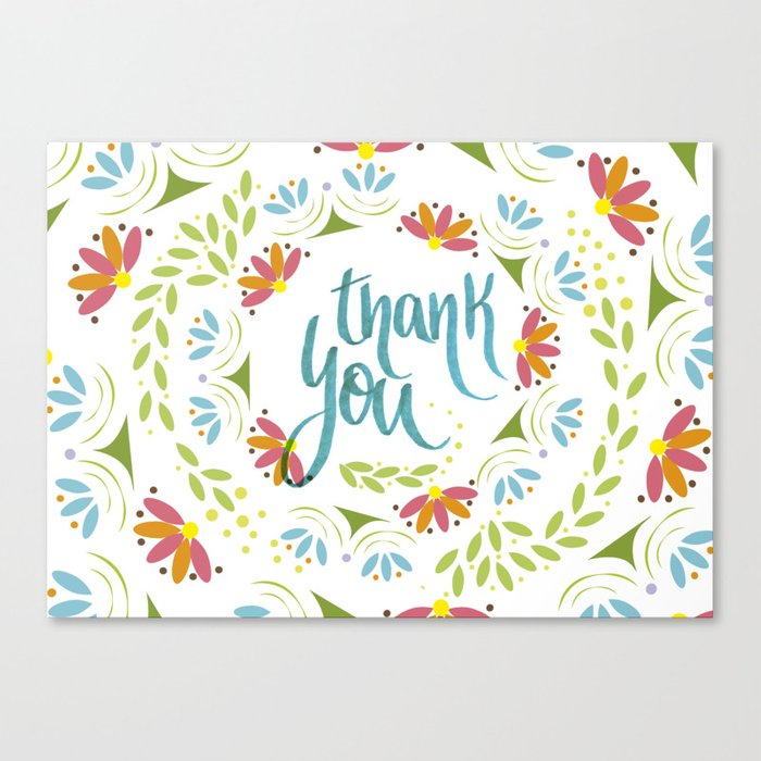 Thank you! Canvas Print