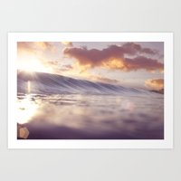 Pastel Ocean Sunrise Art Print