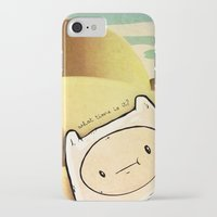 finn iPhone & iPod Cases featuring Finn by Unihorse