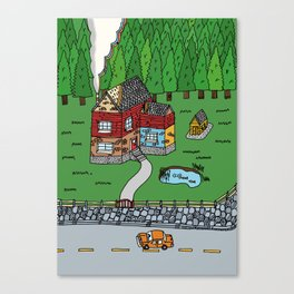 Wooden House Canvas Print