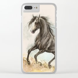 Golden dust under my hooves Clear iPhone Case