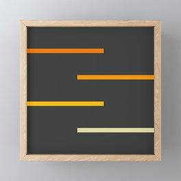 Abstract Minimal Retro Stripes Ashtanga Framed Mini Art Print