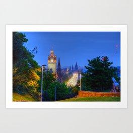 Edinburgh, Scotland from Calton Hill Art Print