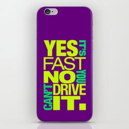 Yes it's fast No you can't drive it v7 HQvector iPhone Skin