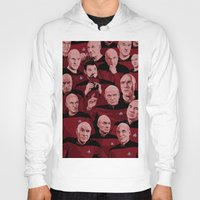 picard Hoodies featuring Picard Day by Brian J. Smith