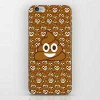 poop iPhone & iPod Skins featuring Poop Emoji by Fabian Bross