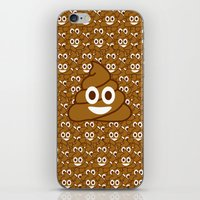 emoji iPhone & iPod Skins featuring Poop Emoji by Fabian Bross