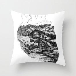 I Heart Sonoma County Throw Pillow