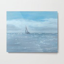 Newport Beach Sailing Metal Print
