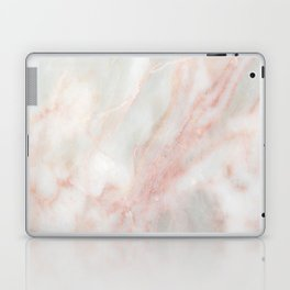Softest blush pink marble Laptop & iPad Skin