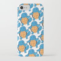 squirtle iPhone & iPod Cases featuring  1 Squirtle, 2 Squirtle, 3 Squirtle, 4 by pkarnold + The Cult Print Shop