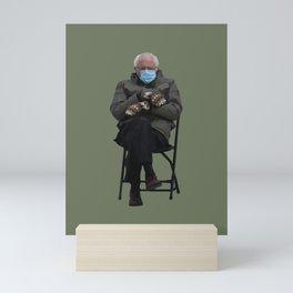 Bernie Sanders Mittens Chair Meme Vector Art Mini Art Print