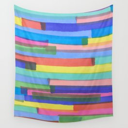 Happy Stripes Wall Tapestry