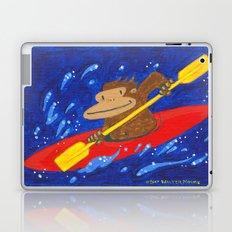 Kayak Ape on Blue Laptop & iPad Skin