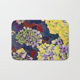 Hydrangea Yellow Bath Mat