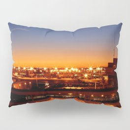 Airport Sunset Time Lapse Pillow Sham