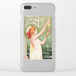 Art Nouveau Absinthe Robette Ad Clear iPhone Case
