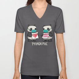 Pandemic - social distancing but always close to my heart Unisex V-Neck