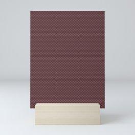 Pantone Red Pear Small Scallop, Wave Pattern Mini Art Print