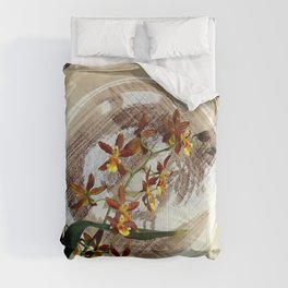 A Brushstroke Of Orchid Genus Comforters