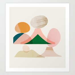 Abstraction_Balances_003 Art Print