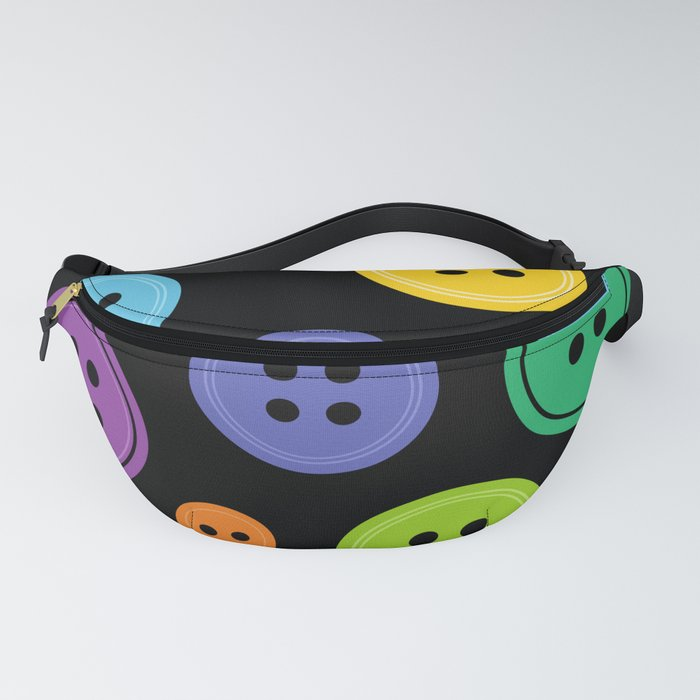 Colorful Rainbow Buttons Fanny Pack