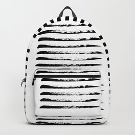 Black squared stripes, hand painted rough texture Backpack